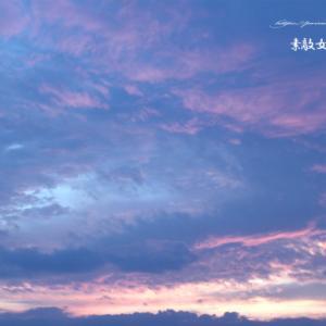 早朝の東の空とPCのご機嫌