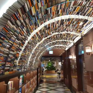 本のトンネルでお洒落な書店にモナカアイスで有名な太極堂も