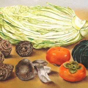 冬野菜と柿