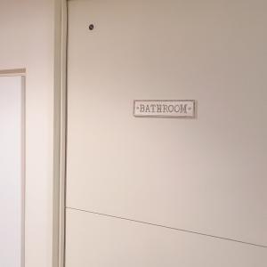 室内ドアにアイアンプレート