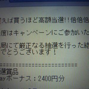 11月19日の当選♪「電子マネー」