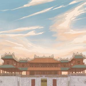 本日のイラスト フエ王宮の午門