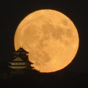 中秋の名月を撮る
