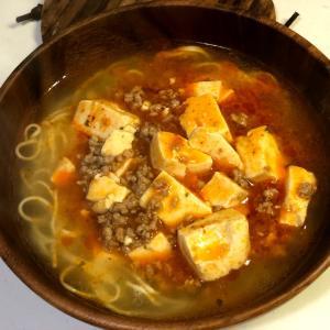 麻婆豆腐ラーメン。