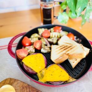 グリル野菜とトーストで朝ごはん!