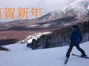 あけましておめでとうございます!なぜか白樺湖でシーズンイン!