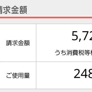 10月の電気代【備忘録】