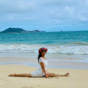 ハワイで撮影したヨガの写真