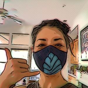 ハワイから届いたマスク