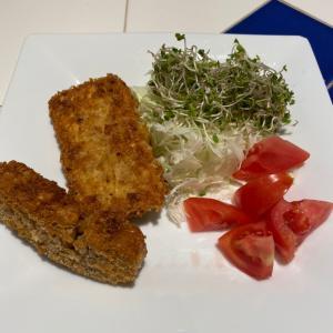 豆腐カツとテンペカツで植物性タンパク質