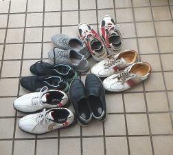 今月も靴を捨てた