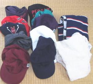 帽子10個と