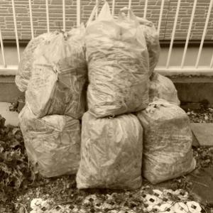 30リットルのゴミ袋を13袋