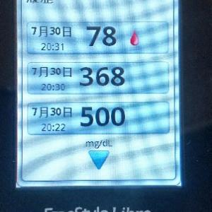 血糖値500って