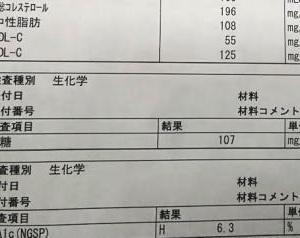 今月の通院 検査結果