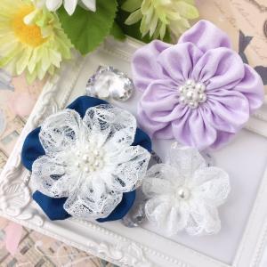 布で作るお花のコサージュ・実物大型紙を公開しました♪