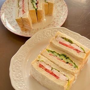 置き弁組のサンドウィッチ☆おじいちゃんのシイタケ