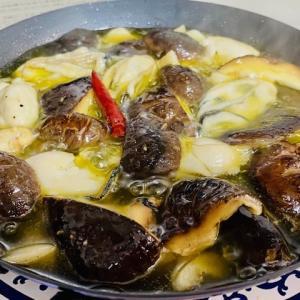 椎茸レシピ②椎茸と牡蠣のアヒージョ