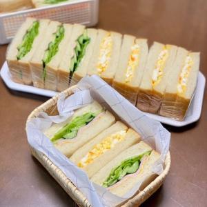 サンドウィッチのお弁当☆落ち着かない