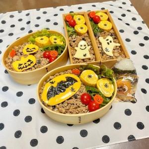 ハロウィンのお弁当☆椎茸料理☆お父さんとニャンズ