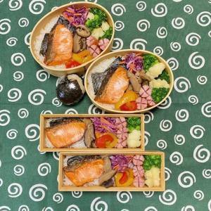 焼き鮭のお弁当☆干し柿レシピ