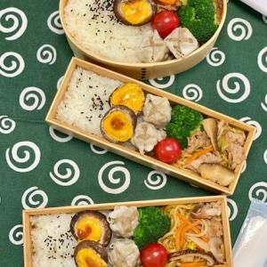 焼売と焼きそばのお弁当☆椎茸です!