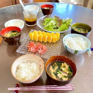 夫が作った休日の朝食
