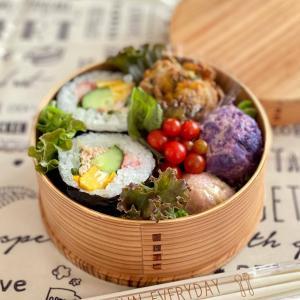 サラダ巻きのお弁当☆おじいちゃんのゴーヤ