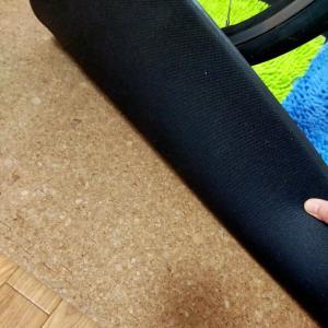 ローラートレーニング 振動対策②コルクマット×防振マット×防振ゴム×カラー板溝