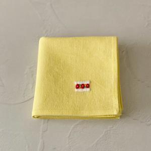 フルーツサンドの手刺繍リネンハンカチ
