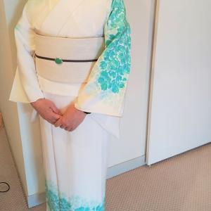 単衣訪問着で、歌舞伎座へ