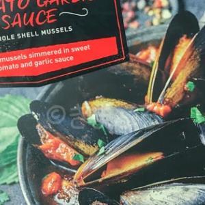 Aldiで売ってるトマトガーリックソースのムール貝