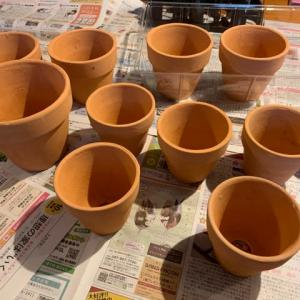 リメ鉢作り