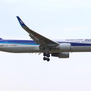 期間中二回目の飛来となるJA625A