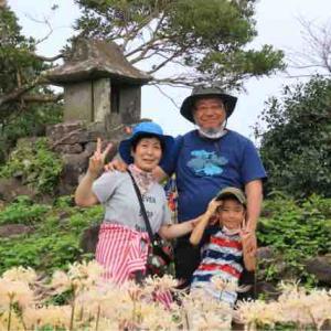 鉢巻山へ彼岸花見学