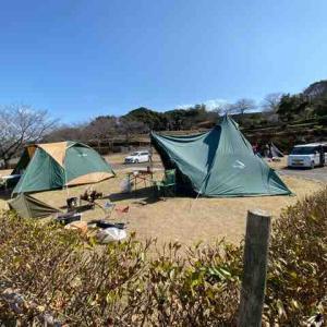 家族でキャンプ(四本堂公園)
