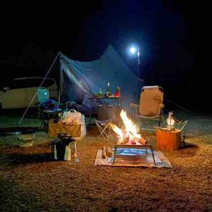 エコパーク論所原でキャンプ