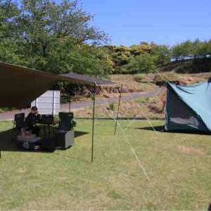 四本堂公園でキャンプ