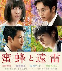 映画『蜂蜜と遠雷』をテレビで見ました。