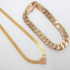 K18のネックレスとブレスレットを高額買取しました♪(´ε` )お宝本舗 大和西大寺店