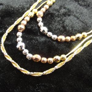 金のネックレス等まとめてお買取り♥材質がわからなくてもお調べします(^o^)お宝本舗 大和西大寺