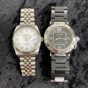 ロレックスとカルティエの腕時計を2点まとめて高価買取しました★٩(´꒳`)۶お宝本舗大和西大寺店