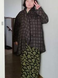 寝間着の上にウール羽織ってコート着てワンコの散歩