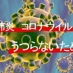 新型肺炎・インフルエンザにうつらないために