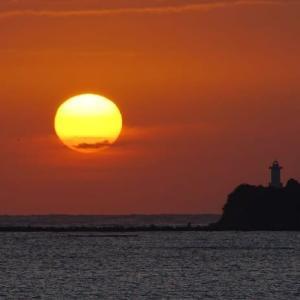 大きな朝陽