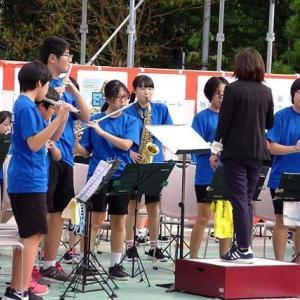 文岡中学の吹奏楽クラブ (ええじゃんか祭り)