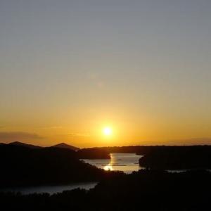 立神慕情が丘の夕陽