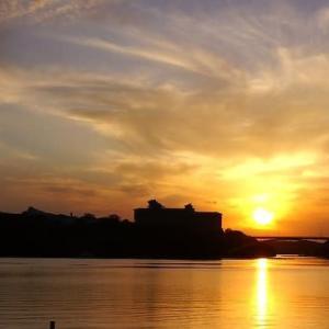 志摩の夕焼け空