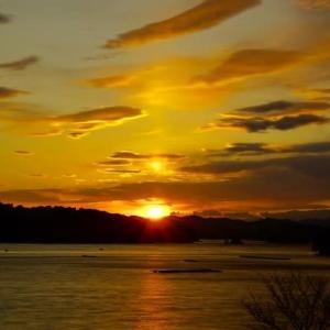 楽しませくれた 五ケ所湾の夕陽