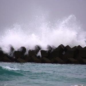 荒れる冬の海 (志摩国府の海)